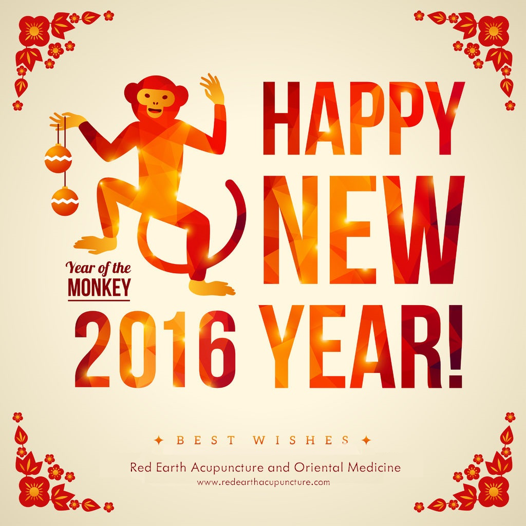 Happy Chinese New Year Red Earth Acupuncture